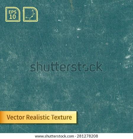 Vector green chalkboard texture - stock vector