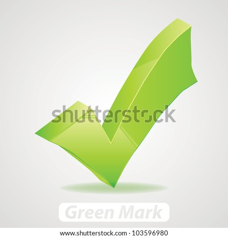 Vector green check Mark - stock vector