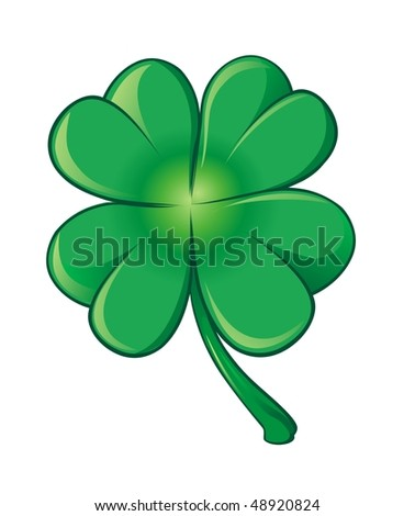 vector green clover leaf - stock vector