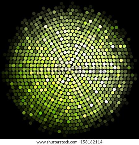 Vector green disco lights background - stock vector
