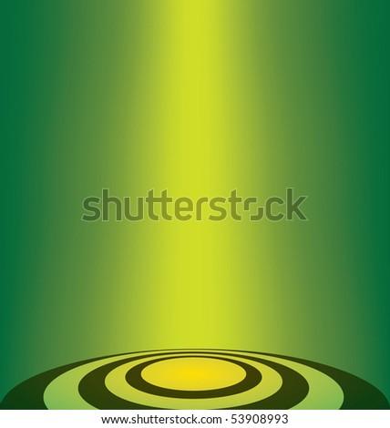 vector green lighting background - stock vector