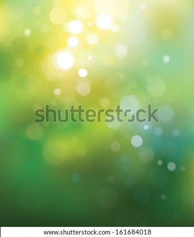 Vector green lights  background. - stock vector
