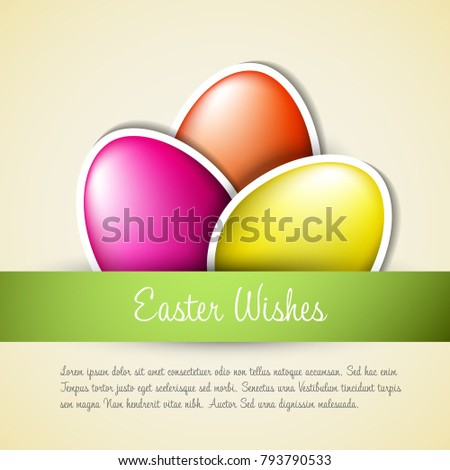 vector green paper easter egg card stock vector royalty free