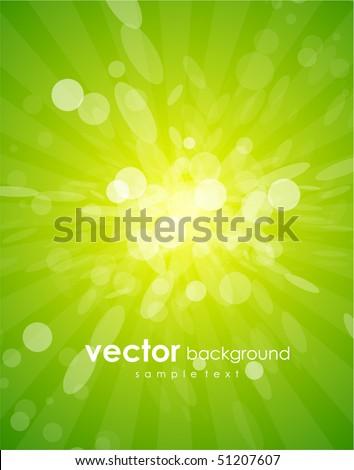 Vector green shiny background - stock vector