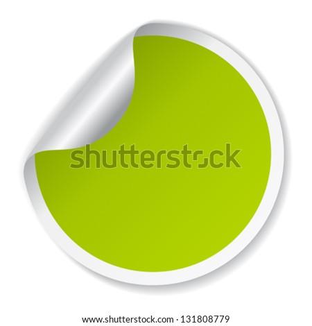 Vector green sticker