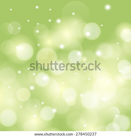 Vector green sunny good mood spring background. Abstract background.