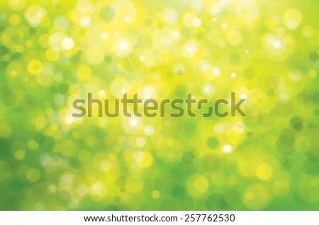 Vector green sunshine background. - stock vector