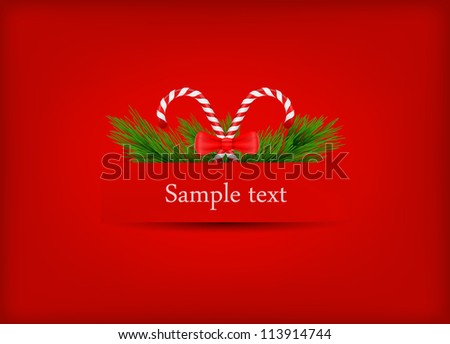 vector greeting card dedicated to Merry Christmas and Happy New Year - stock vector