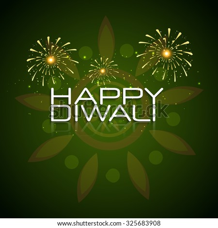Vector greeting card or background, flyer,brochure, magazine cover for Diwali festival can be used for print and publishing.