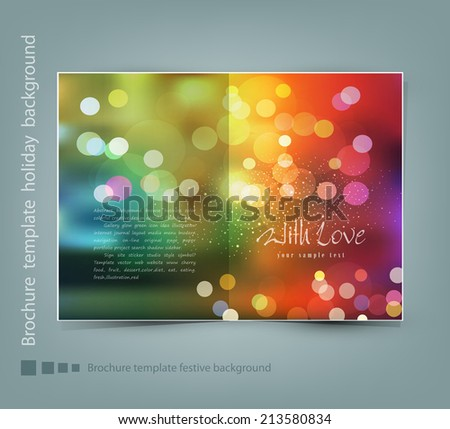 vector greeting card template - stock vector