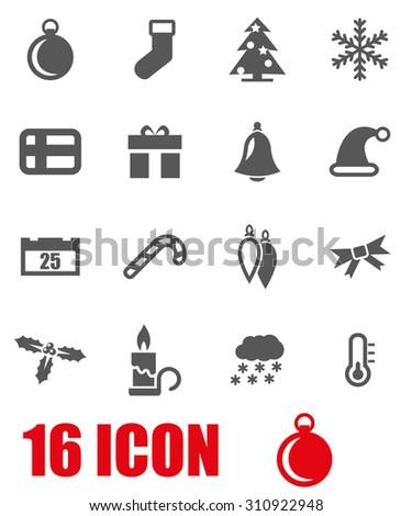 Vector grey christmas icon set. Christmas Icon Object, Christmas Icon Picture, Christmas Icon Image, Christmas Icon Graphic, Christmas Icon JPG, Christmas Icon EPS, Christmas Icon AI - stock vector - stock vector