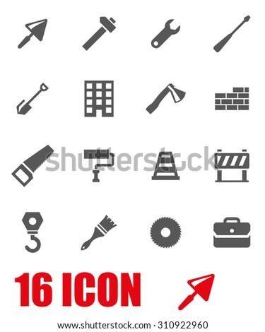 Vector grey construction icon set. Construction Icon Object, Construction Icon Picture, Construction Icon Image, Construction Icon Graphic, Construction Icon JPG, Construction Icon EPS - stock vector - stock vector
