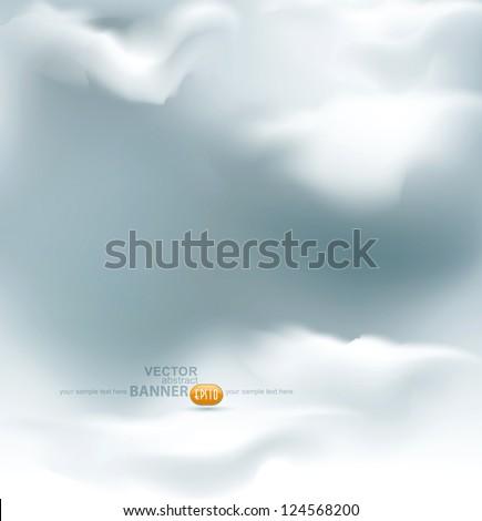 vector grey sky - stock vector