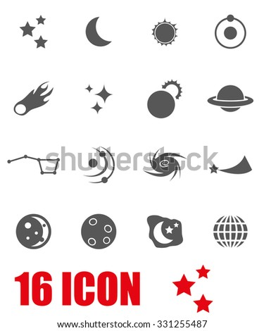 Vector grey space icon set