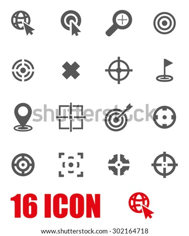 Vector grey target icon set. Target Icon Object, Target Icon Picture, Target Icon Image, Target Icon Graphic, Target Icon JPG, Target Icon EPS, Target Icon AI - stock vector - stock vector