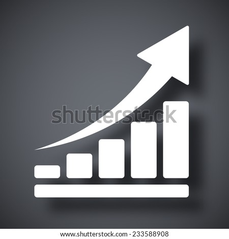 Vector growing graph icon - stock vector