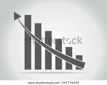 Vector growing graph icon