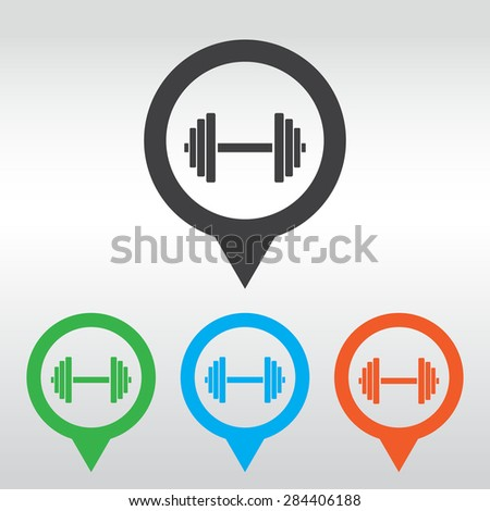 Vector growing graph icon. Infographic chart vector.  icon map pin. - stock vector