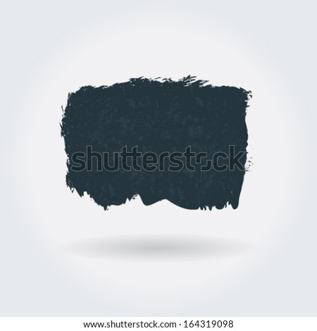 Vector grunge abstract shape, banner illustration - stock vector