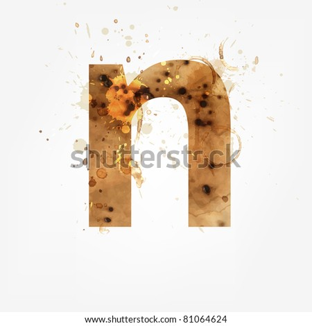 Vector Grunge Alphabet, N - stock vector