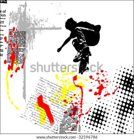 vector grunge background illustration - stock vector