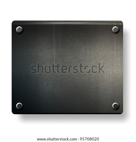 vector grunge background  metal plate with screws eps 10 - stock vector