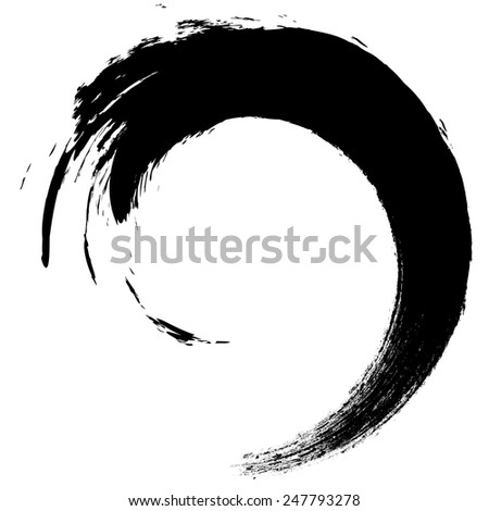 Vector Grunge Brushes Stroke . Spiral Logo Design .