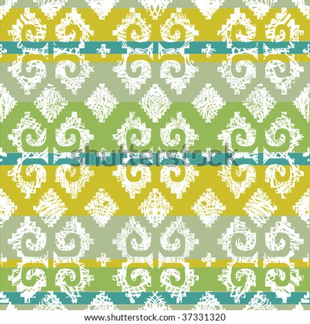 """Vector grunge Mexican seamless pattern 4 (from my big seamless """"Mexican collection"""") - stock vector"""