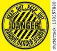 Vector grunge rubber stamp with Danger - stock vector