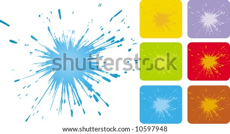 Vector grunge splash design - stock vector