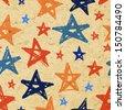 Vector grunge stars background - stock vector