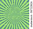 Vector Grunge Sunburst Background - stock vector