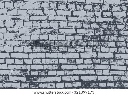 Vector grunge texture. Textural vector background of an old brick wall for yours design. Vector brick wall