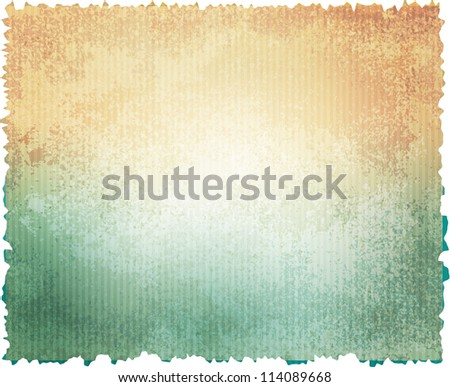 Vector Grunge Watercolor Texture Paper - stock vector