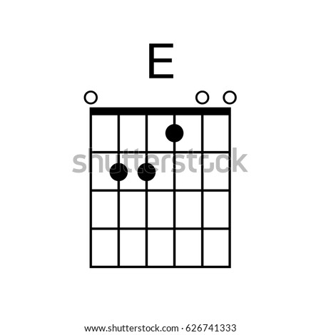 Vector Guitar Chord E Chord Diagram Stock Vector (Royalty Free ...