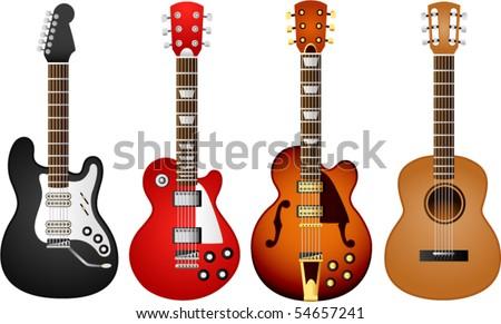 Vector- Guitar set 1 - stock vector