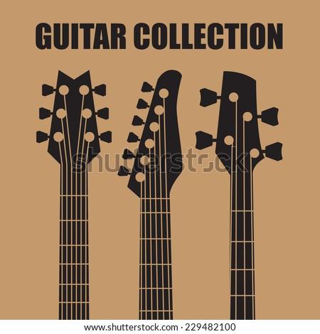 Vector guitars - stock vector