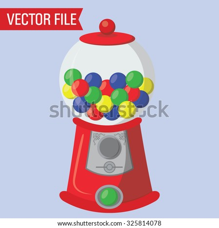 Vector Gumball Machine