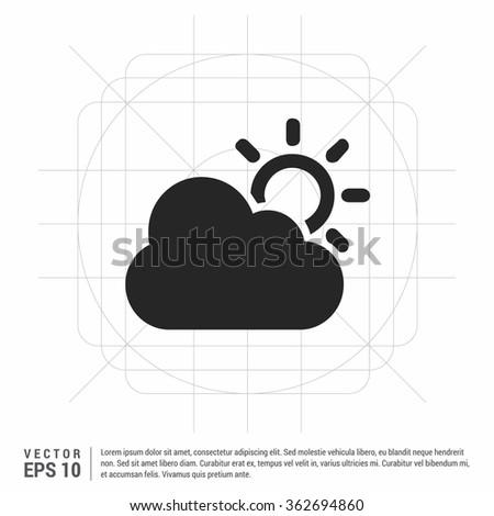 Vector Half Sun Icon Stock Vector 362694860 Shutterstock