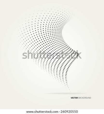 Vector halftone dots. - stock vector