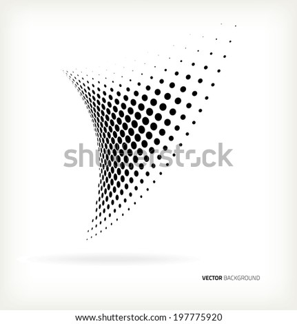 Vector halftone dots abstract background - stock vector