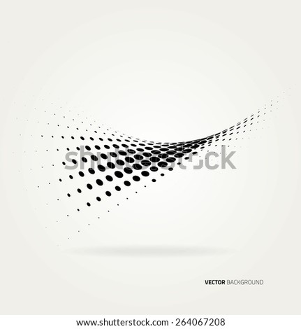 Vector halftone dots abstract background. Design template - stock vector