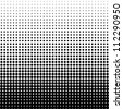 Vector halftone dots. Black dots on white background. - stock photo