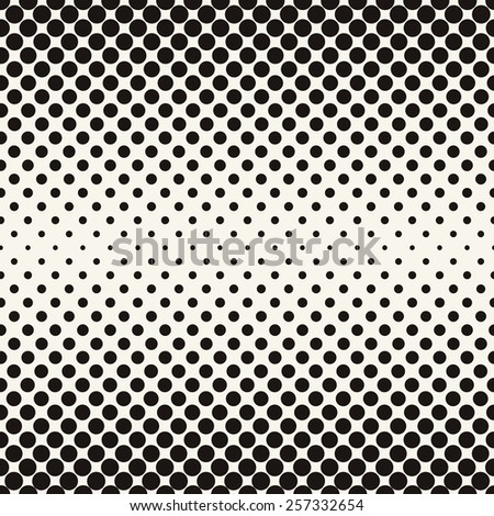 Vector halftone dots. Black dots on white background. Retro style faded colors vintage old look  - stock vector