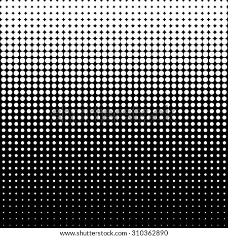 Vector halftone dots - White
