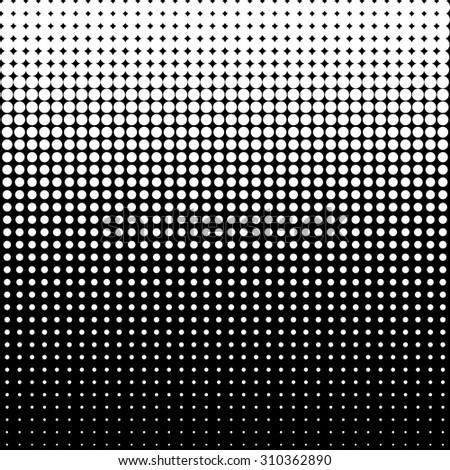 Vector halftone dots - White - stock vector
