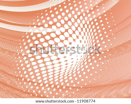 vector halftone effect, illusion of the gradient, place for text - stock vector