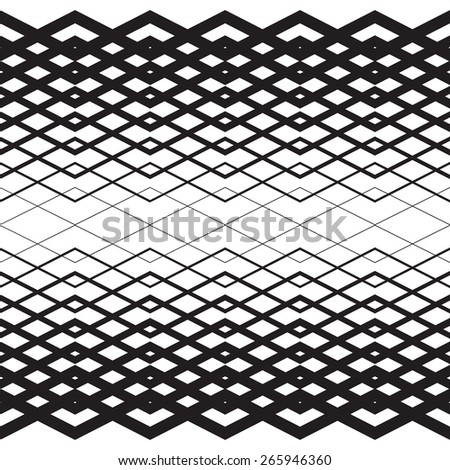 Vector halftone lines. Black lines on white background. Zigzag unless pattern. - stock vector