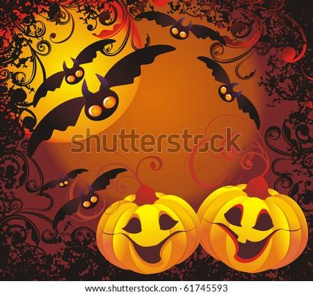 Vector halloween background - stock vector