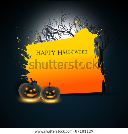 vector halloween background with space for your text